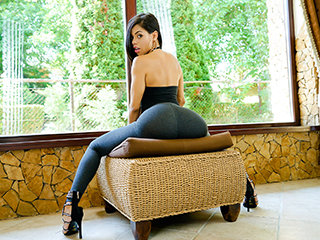 Sexy Latina Showcases Us Her Postures