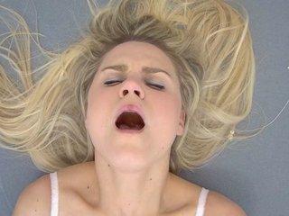 Shy Blonde Experiences a Wild Orgasm